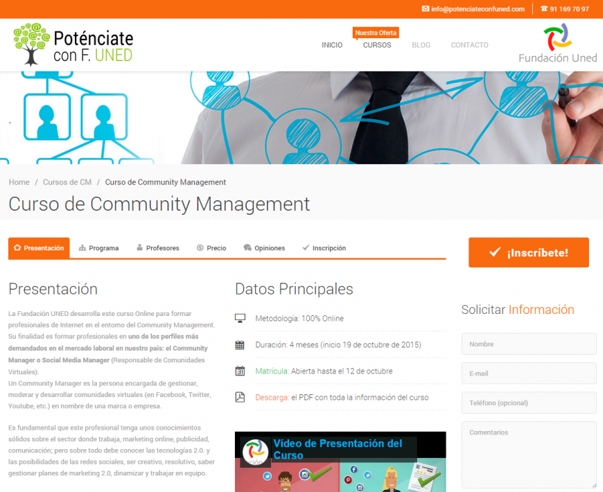 Curso de Community Management   CURSOS DE COMMUNITY MANAGEMENT F. UNED